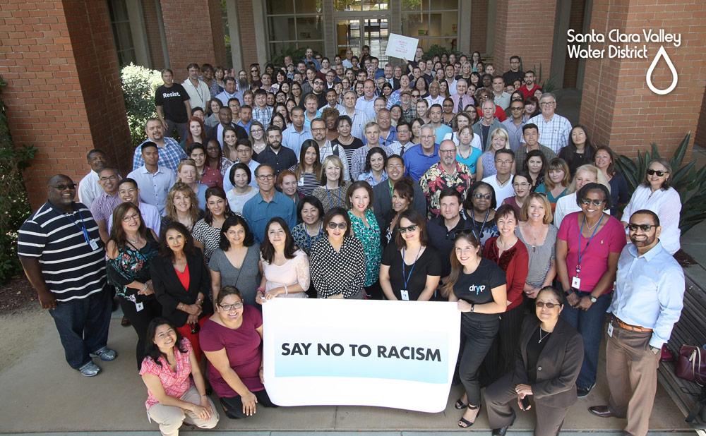 Say No to Racism group photo