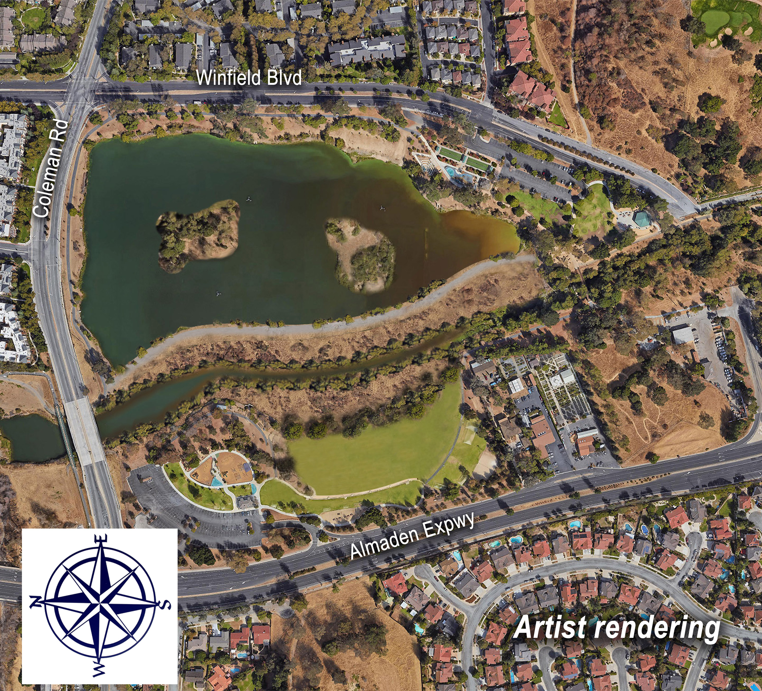 Almaden Lake Project artist rendering