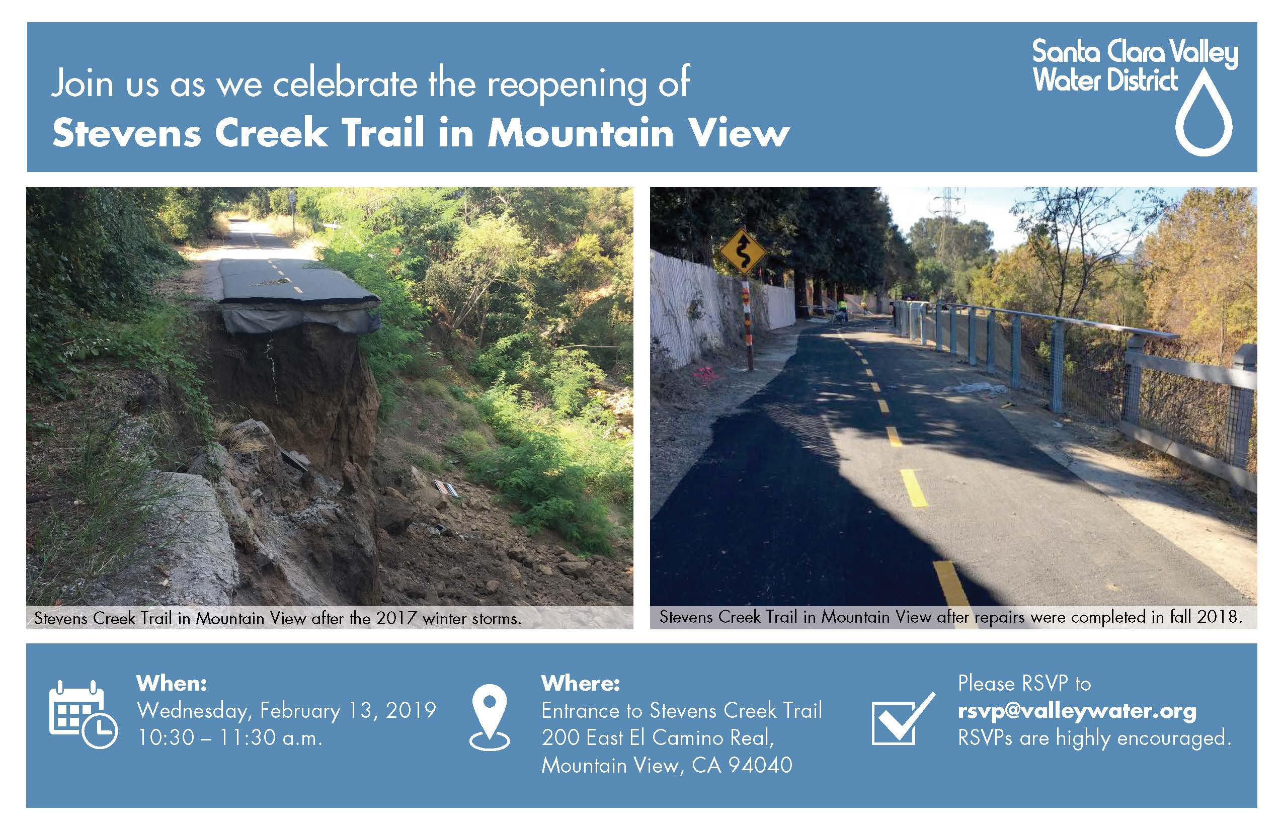Reopening of the Stevens Creek Trail in Mountain View
