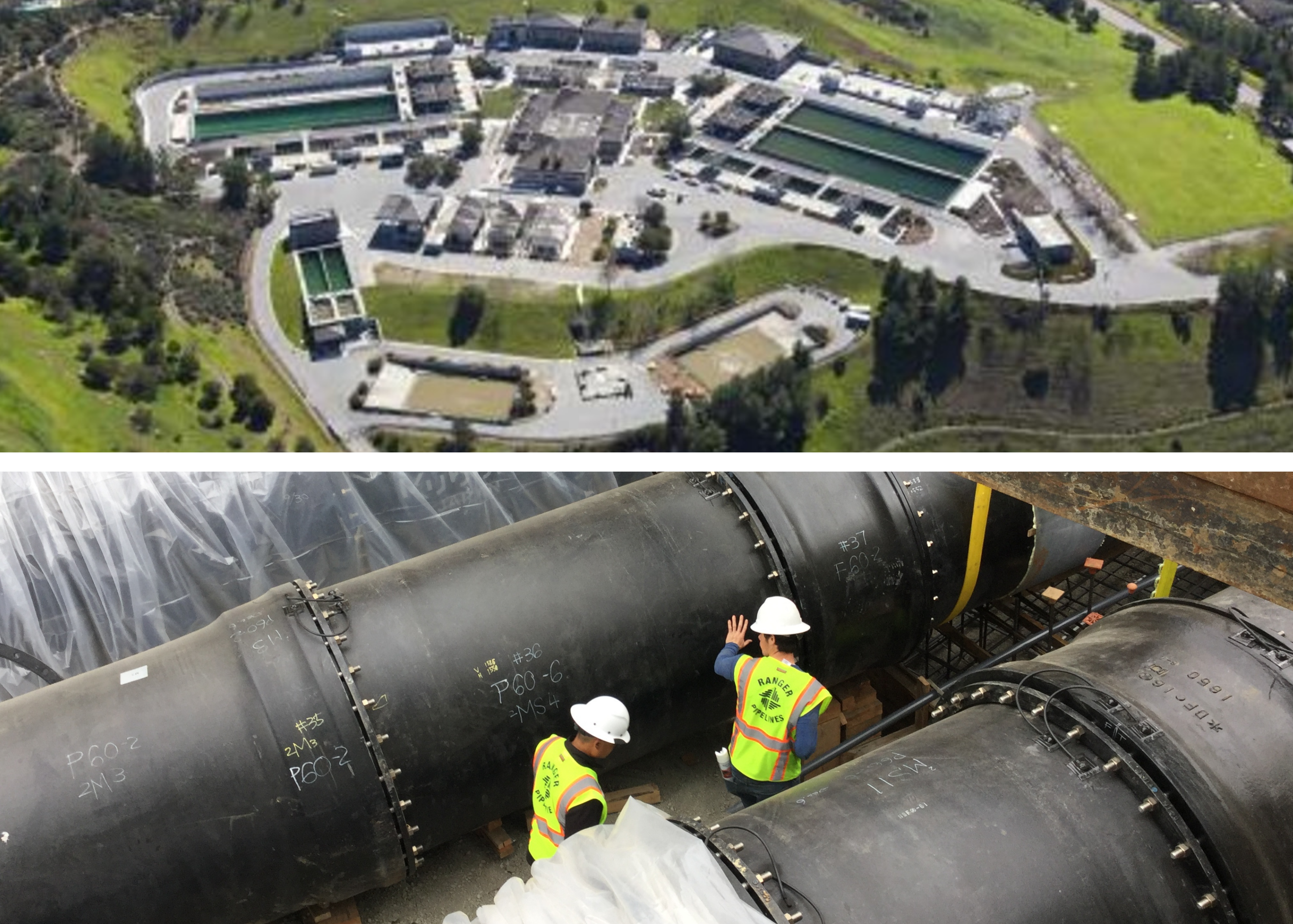 Water treatment plant aerial image and distribution system IP