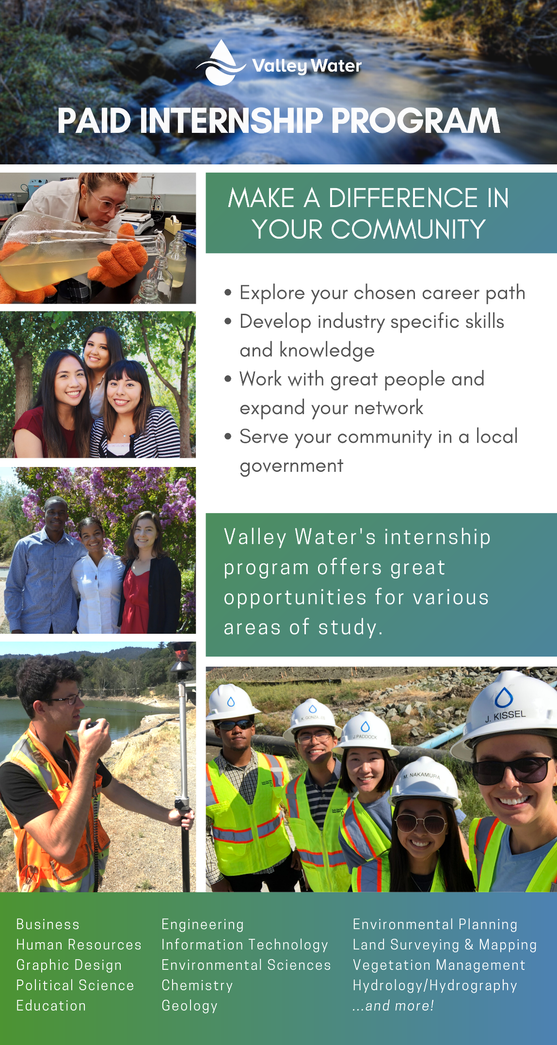 Paid Summer Internships Flyer
