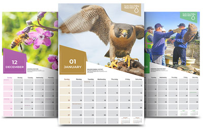 order your free 2019 santa clara valley water district calendar fiscal year 2018 annual report this beautiful wall calendar features photos from