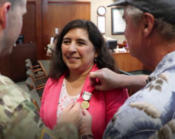 Valley Water's Rechelle Blank receives Public Service Commendation Medal