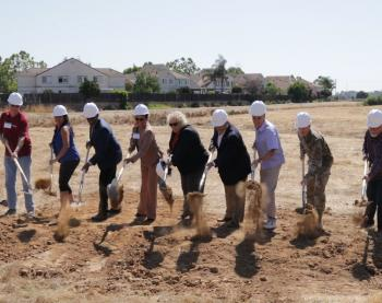 Groundbreaking event for the Upper Llagas Flood Protection Project