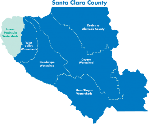 Santa Clara County Map Watersheds of Santa Clara Valley | Santa Clara Valley Water