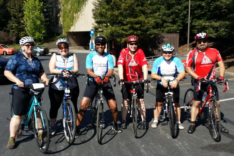 Valley Water staff taking part in the Tour de Cure cycling event